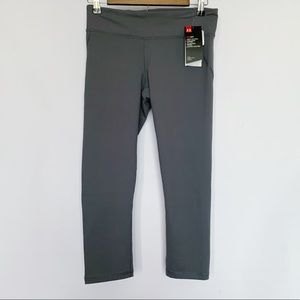 Under Armour Gray Capris Fitted Legging Pants Grey